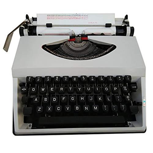 Maniny Alte englische Schreibmaschine - Retro mechanischer literarischer antiker Hauptschmuck - Flexible Tasten Klare Handschrift