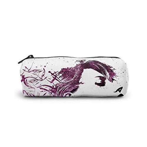 IOPLK Kulturbeutel runde Federmäppchen Kosmetiktasche Federmäppchen Pencil Case/Cosmetic Bag,Art Painting Chicken Canvas Stationery Stylish Simple Pencil Bag