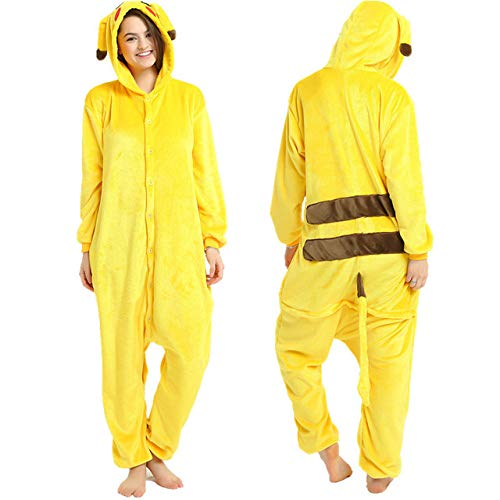 JBDGNZ Pijamas Mujer Panda Invierno Franela Pijama camisón para Adultos Ropa de Dormir en General, Plateado, L