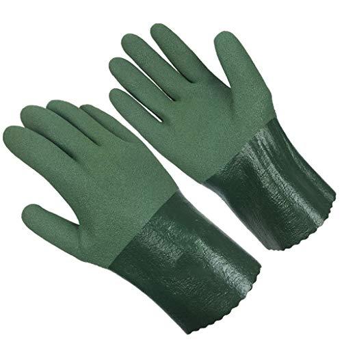 HUOQILIN Handschuhe Ölbeständig, Ölbeständig, Lösemittelfrei, Nitrilkautschuk, Verschleißfeste Arbeitsversicherung