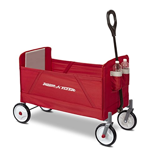 Radio Flyer 3956A EZ Wagon, Folding Trolley for Kids, Garden and Cargo cart, Ages 1.5+