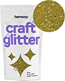 Hemway Craft Paillettes, doré, FIN 1/64' 0.015' 0.4MM 100g