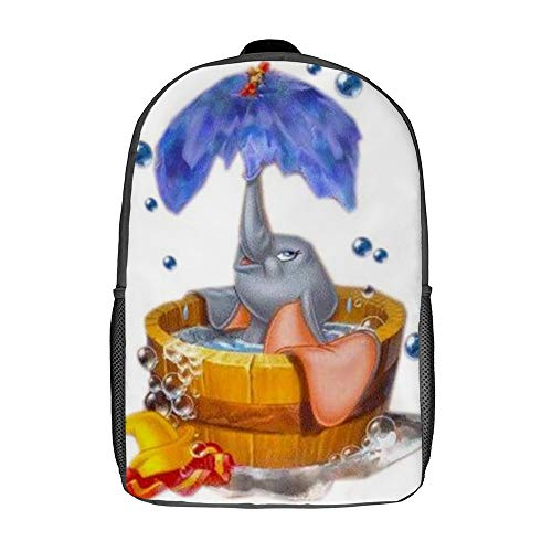 Dumbo Bade-Rucksack Schultasche Reisetasche Business-Tagesrucksack für Herren Damen Teenager Schule College 17 Zoll