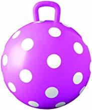 Hedstrom Pink Polka Dot Hopper Ball, Kid's Ride-on Toy, Bouncy Hopping Ball with Handle - 15 Inch