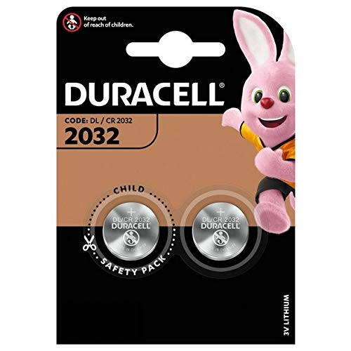 Duracell 2032 CR2032 DL2032 Batterie a Bottone al Litio - 2 Batterie
