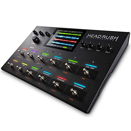 HeadRush Looperboard - 4-In/4-Out Looper mit intelligenter Time-Stretching Funktion und integrierten Effekten, über 300 vorinstallierten Loops, integriertem USB Audio Interface