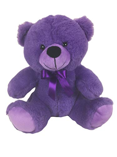 Grandma Smiley's Plush Best Friends 9' Super Color Teddy Bears (Purple)