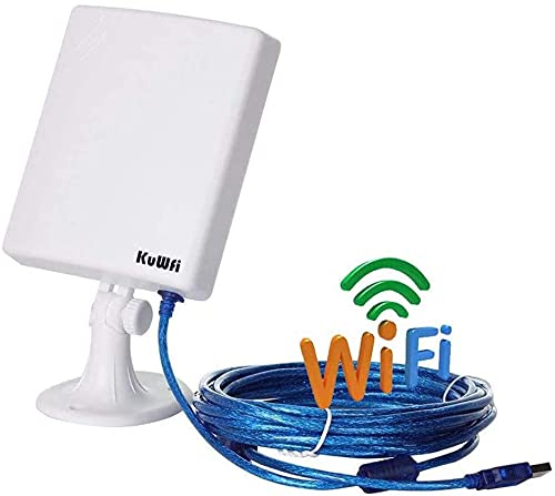 KuWFi - Adaptador de Red USB para Exteriores (Cable inalámbrico USB, 5 m)
