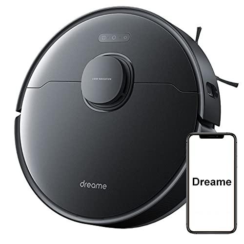 Dreame L10 Pro 2 en 1 Robot Aspirador y Trapeador Láser con Potencia de Succión de 4000 Pa, Control por Voz, Tanque de Agua de 270 ml (Negro)