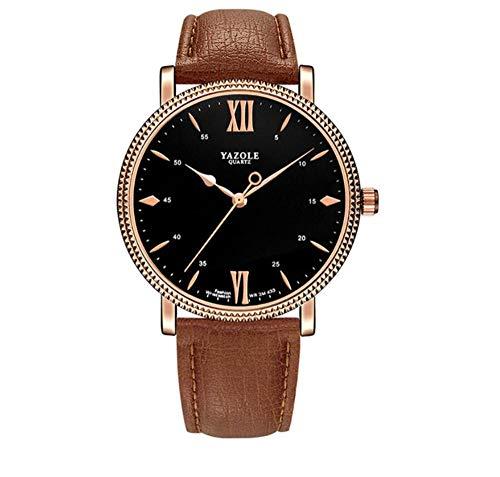 Relojes de Pulsera Ver Reloj De Cuarzo Analógico Deportivo Impermeable para Hombres Reloj Electrónico De Cronógrafo De Negocios para Jóvenes (B)