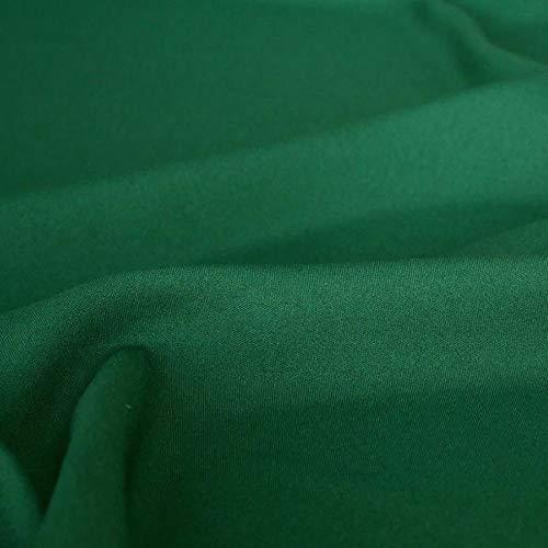 TOLKO Modestoff | Dekostoff universal Stoff zum Nähen und Dekorieren | Blickdicht, knitterarm | Meterware (Dunkel-Grün)