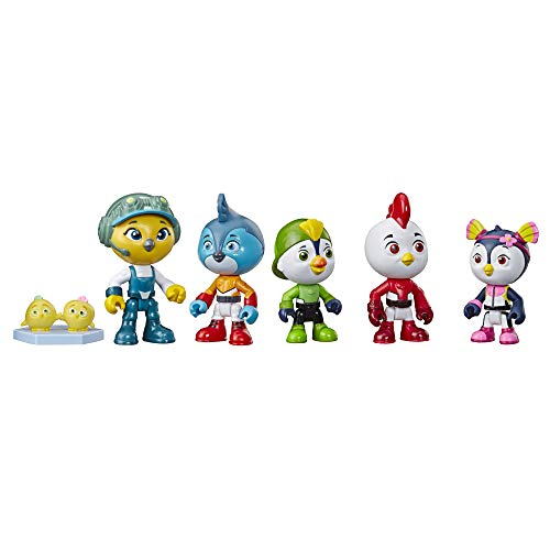 Hasbro Top Wing Academy Collector Pack Includes 5 Poseable 3' Figures & Top Wing Cheep & Chirp, Toy for Kids Ages 3 Years Old & Up