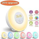 Réveil Lumière, GLIME Lampe Réveil Veilleuse Lumière RGB LED Câble USB Tactile...