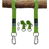 LAMURO Kit para Colgar Columpios de árboles Correas Verde Resistentes de 10...