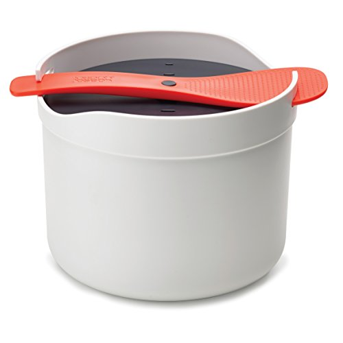 Joseph Joseph 45002 M-Cuisine Microwave Rice Cooker Grain, Plastic, Orange/Beige