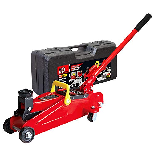 Torin Big Red Hydraulic Trolley Floor Jack with Carrying Case, 2 Ton Capacity (T82012)