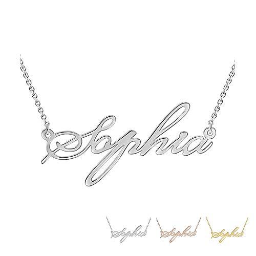 Grand Made Aadena de Plata de Mujer Infinito Collar Personalizado Plateado Joyería Esterlina para Madre Hermana Regalo Personalizado de San Valentín