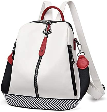 Backpack Purse for Women, Fashion Backpack Women Easy Leather Backpack Female White Travel Gage Pack Backpacks for Girls (Color : White, Size : 283012cm)