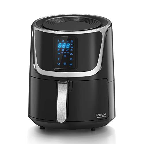 VECATECH Friggitrice ad Aria Calda, 5,5L Friggitrice Senza Olio, Air Fryer con 8 Programmi, LED Touch Screen, Tempo Temperatura Regolabili,1500W b