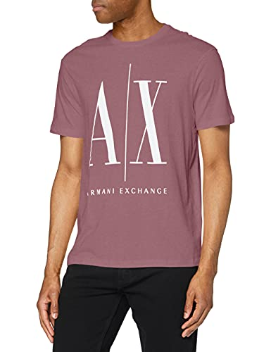 Armani Exchange Icon T Camiseta, Rojo (Grape Shake 1305), X-Small para Hombre