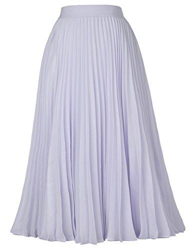 Falda Mujer Verano Fiesta Sexy Elegante Tutu Moda Largo Chiffon Tul Cintura Alta Plisada M