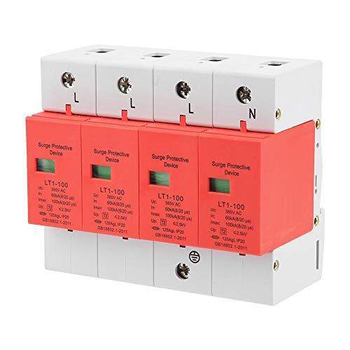 Haus Überspannungsschutz, 4p 60-100ka 420v Ac Niederspannungsableiter Überspannungsschutz Blitzschutz