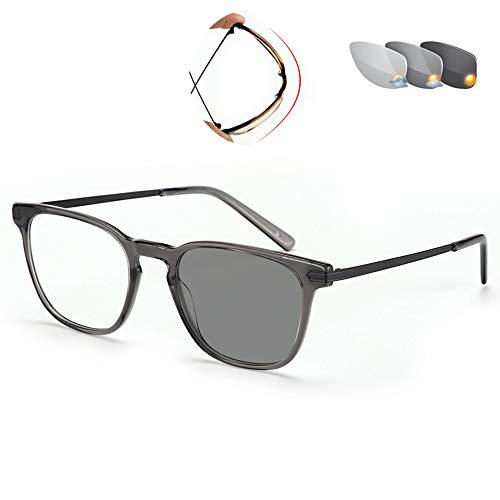 VOCD leesbril ultradunne elastische dubbele licht-bril comfortabele en comfortabele zonnebril met dubbel doel - volformaat voor mannen en vrouwen