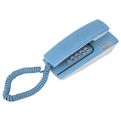 Mxzzand Función de Timbre/remarcación/Silencio/Pausa Durable N.Nic KX-T811 Mini teléfono Teléfono Fijo Flash rápido Confiable y Estable, para la Oficina en casa(Blue)