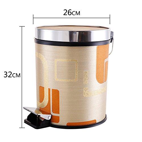 Bacs à ordures extérieurs Xiuxiutian Bureau pied en acier inoxydable hall salon et la chambre d'admettre 26*32cm, panier style 7
