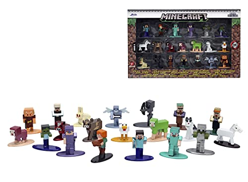 Jada Toys Minecraft 1.65' Die-cast Metal Collectible Figurine 20-Pack Wave 6, Toys for Kids and Adults