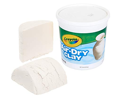 Crayola Air Dry Clay, White, 5lb, Kids Indoor Activities At Home