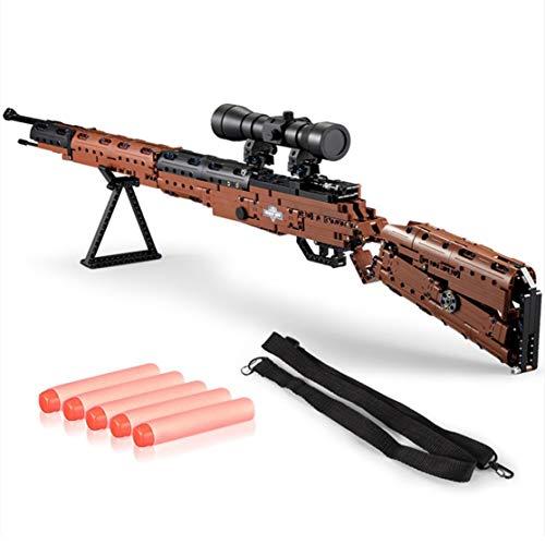 Kaemma 653PCS 98k 4D Mauser-Gewehr-Versammlung Modell DIY Puzzle Soldat Waffe Mini-Gewehr-Spielzeug Early Education Geschenk für Kinder