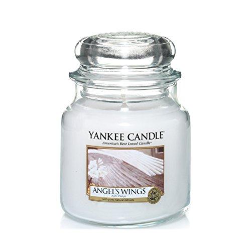 Yankee Candle Duftkerze im Glas (mittelgroß) | Angel\'s Wings | Brenndauer bis zu 75 Stunden