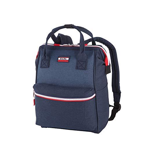 Rada Rucksack RS/19/M 14l Freizeitrucksack für Herren und Damen, Leichter Daypack für Jungen und Mädchen, geeignet für Arbeit und Sport, wasserabweisendes Polyester (Midnight Sports)