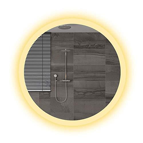 Montre de poche et bracelet 50-70cm Miroir de salle de bains à lampe LED ronde miroir de salle de bains monté sur un miroir HD vert adapté à d'autres endroits de la chambre à coucher de la maison (cou