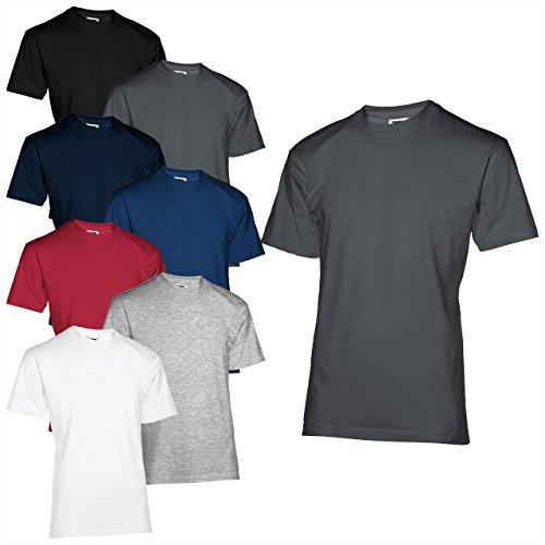 Slazenger 10er Pack T-Shirt 200 Tshirt 100{90eed4dcc9fb447068096c7631657818f02b8dfd90badfc8d3537ebf61aec53f} Baumwolle S - XXXL (XXXL, Dark Grey (solid))