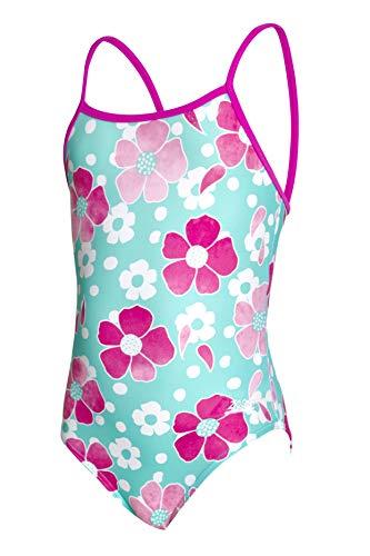 Zoggs Unisex Kinder Yaroomba Floral Swimming Costume Einteiliger Badeanzug (1–6 Jahre), Petal Magic, 110