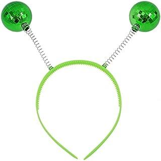 Diadema Antenas Bolas Disco Verdes (6 UDS)