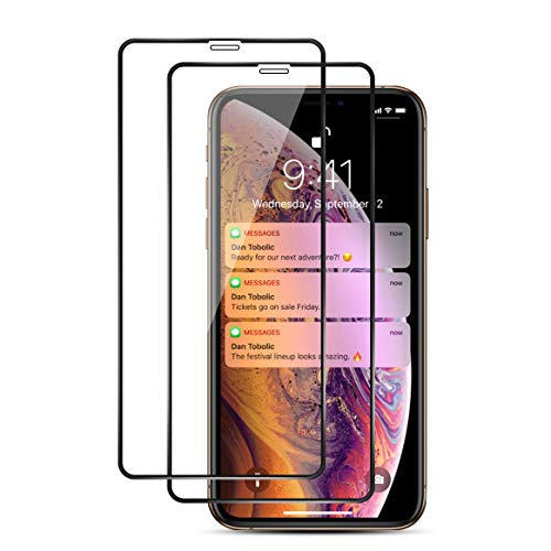 ismabo Screen Protector for iPhone Xs Max [2-Pack] Tempered Glass for iPhone 11 Pro Max/Xs Max 6.5 inch, Full Coverage, Easy Installation, 9H Anti-Scratch, 3D Curved Edge, Case Friendly