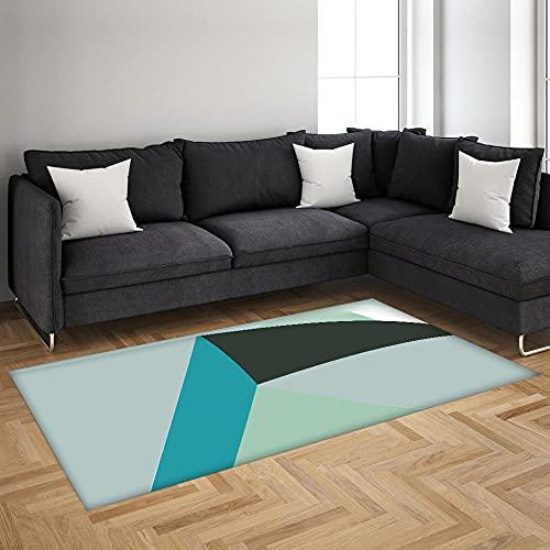 Alfombra Antideslizante Impresa En 3D Patrón Abstracto Verde Alfombra De Franela Suave,Adecuada para Sala De Estar Y Dormitorio 120X170 Cm