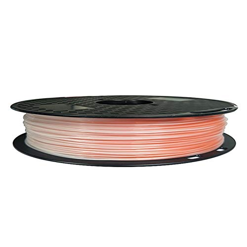 LHF 1.75mm 500g Spool,Multicolored Rainbow 3D Printer Material,PLA 3D Printing Filament,Dimensional Accuracy Of +/- 0.02Peach Turn White Pla 500g