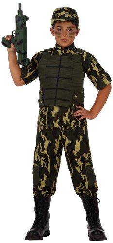 Atosa-10953 Disfraz Militar, color verde, 7 a 9 años (10953)