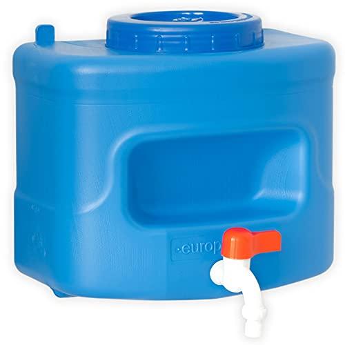4BIG.fun Dispensador de agua de 10 litros con grifo, depósito de agua, depósito de agua, para camping, jardín, casa de jardín, tienda de campaña, barbacoa