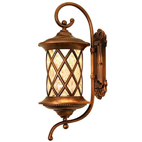 YUYAXCL mode wandlamp aluminium glas buitenlamp waterdichte wandlamp LED E27 vintage rustieke wandverlichting voor zaal tuin garantie, brons