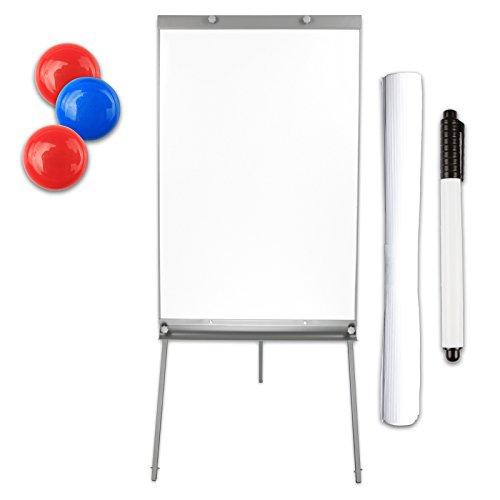 Flipchart magnetisch in hoogte verstelbaar inclusief papieren magneten markeerspons