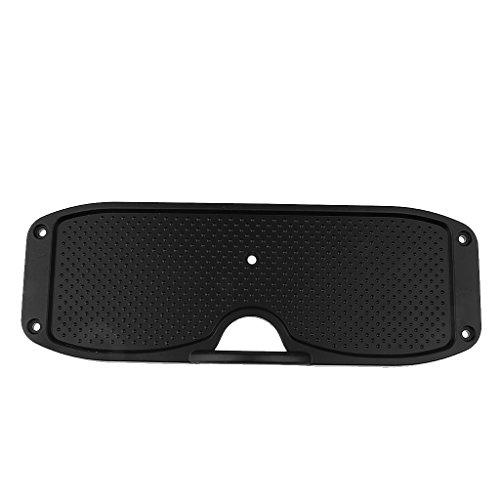 monkeyjack Durable negro espejo de popa de aluminio placa fuera borda de montaje soporte de motor para bote hinchable de goma baño yate pesca 295x 105mm