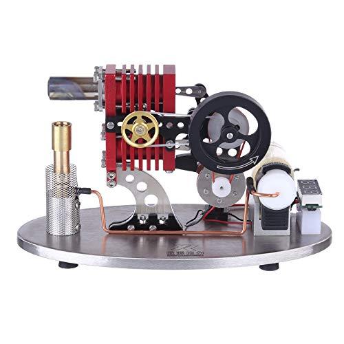 DAN DISCOUNTS Stirlingmotor Bausatz, 2-Zylinder Stirling Engine, Stirlingmotor Motormodell Pädagogisches Spielzeug für Erwachsene und Kinder