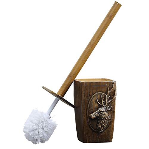 NYKK Escobilla WC Cepillo de baño Creativo Suave for el Cabello Cepillo de Limpieza for baño Conjunto sin Cepillo de Inodoro de Esquina Muerta Escobillas de Baño