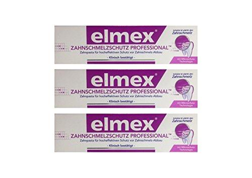 3x ELMEX Zahnschmelzschutz PROFESSIONAL Zahnpasta 75ml PZN 11072327 Zahncreme
