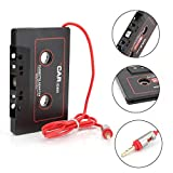 Car Audio aux Cassette Adapter,Cleantt 3.5 MM Cable Tape Adapter for iPhone, iPod, iPad, Android Phones, MP3 Players